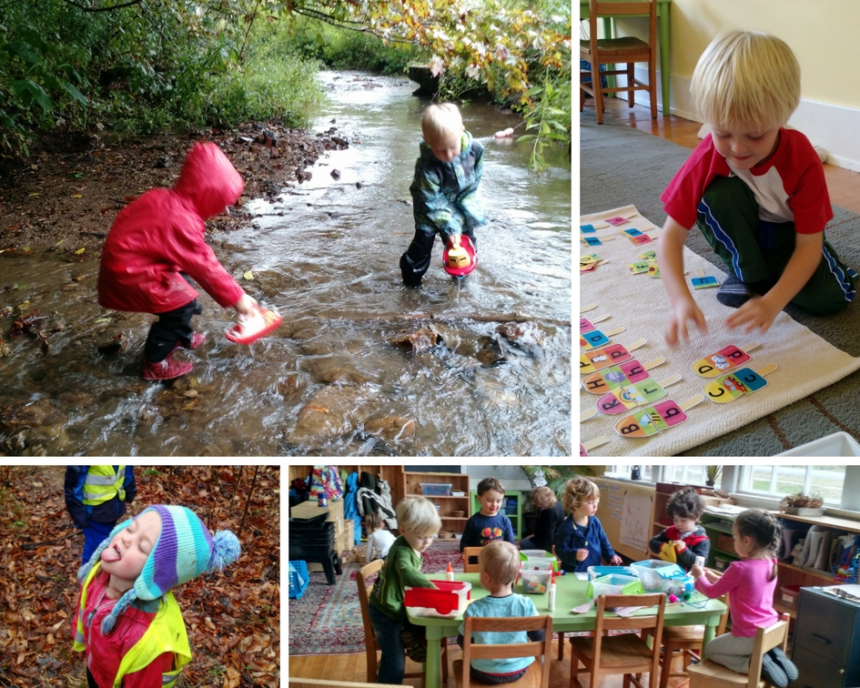 Mayapple students at nature preschool